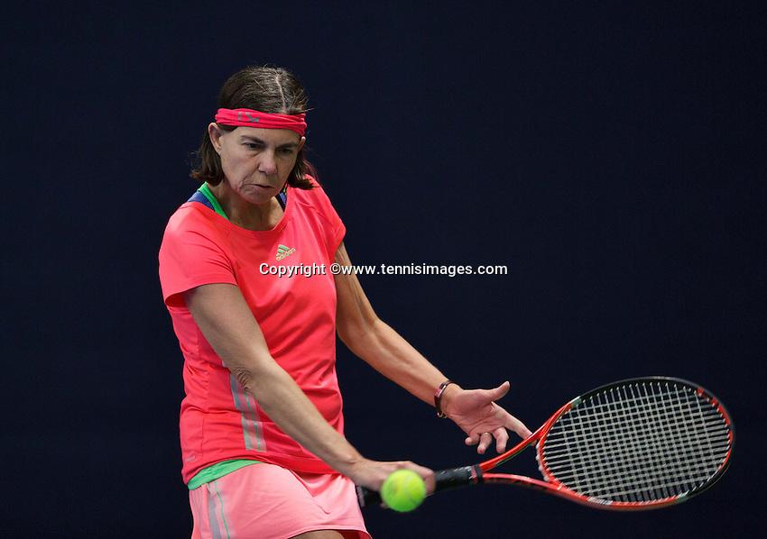 Hilversum, The Netherlands, March 10, 2016,  Tulip Tennis Center, NOVK, Fanny van Opstal<br /> Photo: Tennisimages/Henk Koster