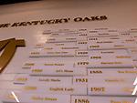 LOUISVILLE,KNY - MAY 03: Kentucky Oaks wall winners for Kentucky Derby & Kentucky Oaks at Churchill Downs, Louisville, Kentucky. (Photo by Sue Kawczynski/Eclipse Sportswire/Getty Images)