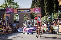 Reto Hollenstein (SUI/Katusha-Alpecin) up the very steep part up San Luca climb<br /> <br /> Stage 1 (ITT): Bologna to Bologna/San Luca (8.2km)<br /> 102nd Giro d'Italia 2019<br /> <br /> ©kramon