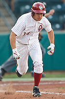 Ricky Eisenberg (10) during the NCAA matchup between the University of Arkansas-Little Rock Trojans and the University of Oklahoma Sooners at L. Dale Mitchell Park in Norman, Oklahoma; March 11th, 2011.  Oklahoma won 11-3.  Photo by William Purnell/Four Seam Images