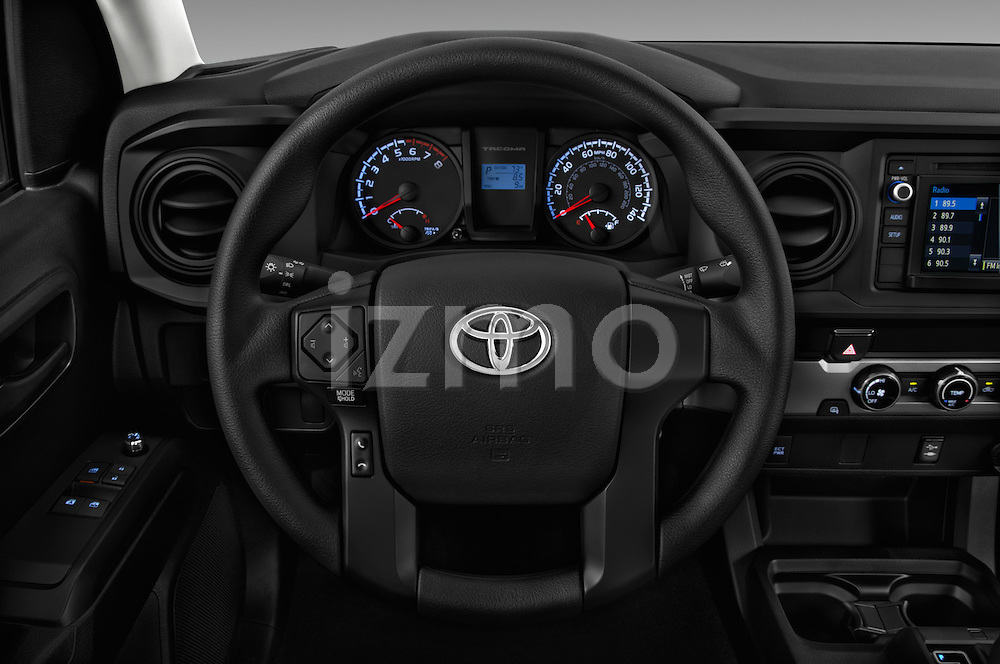 Car pictures of steering wheel view of a 2017 Toyota Tacoma SR-Access 4 Door Pick-up Steering Wheel