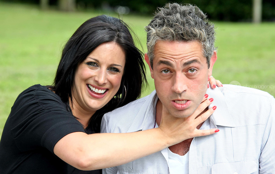 05/08/'10 Lucy Kennedy and BazAshwamy of ' Do The Right Thing' pictured  at the launch of RTE's new season winter schedule at Montrose this afternoon...Picture Colin Keegan, Collins, Dublin.