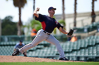 Minnesota Twins pitcher Brandon Poulson (33) during an instructional league game against the Baltimore Orioles on September 22, 2015 at Ed Smith Stadium in Sarasota, Florida.  (Mike Janes/Four Seam Images)