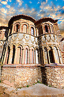 Exterior of the Byzantine Othodox monastery of Pantanassa ,  Mystras ,  Sparta, the Peloponnese, Greece. A UNESCO World Heritage Site