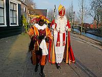 Sinterklaas en Zwarte Piet in Zaanse Schans