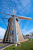 The Vantage Travel Cruise, MS Discovery II along the canals of the Netherlands. Windmills in Kinderdijk. A UNESCO World heritage site.