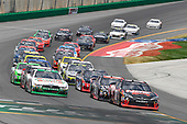 NASCAR XFINITY Series<br /> Alsco 300<br /> Kentucky Speedway, Sparta, KY USA<br /> Saturday 8 July 2017<br /> Kevin Harvick, Hunt Brothers Pizza Ford Mustang, Kyle Busch, NOS Energy Drink Rowdy Toyota Camry<br /> World Copyright: Logan Whitton<br /> LAT Images