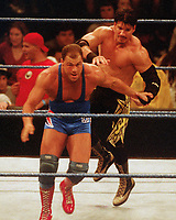 Eddie Guerrero Kurt Angle 1999                                                        Photo By John Barrett/PHOTOlink