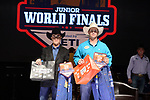 Meason Ybarra, Kyle Mahon, during the Team Roping Back Number Presentation at the Junior World Finals. Photo by Andy Watson. Written permission must be obtained to use this photo in any manner.