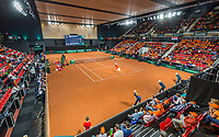 The Hague, The Netherlands, September 15, 2017,  Sportcampus , Davis Cup Netherlands - Chech Republic, Seccond Rubber: Overall vieuw<br /> Photo: Tennisimages/Henk Koster