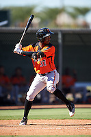San Francisco Giants Kelvin Beltre (37) during an Instructional League game against the Los Angeles Angels of Anaheim on October 13, 2016 at the Tempe Diablo Stadium Complex in Tempe, Arizona.  (Mike Janes/Four Seam Images)