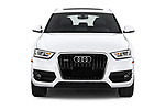 Car photography straight front view of a 2015 Audi Q3 Premium Plus 5 Door SUV