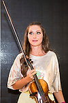 Violinist Elena Mikhailova pose to the media at MBFWM16 in Madrid. September 16, Spain. 2016. (ALTERPHOTOS/BorjaB.Hojas)