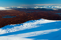 Looking across Rannoch Moor towards Schiehallion from the Munro of Meall a' Bhuiridh, Highland