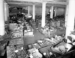 Pittsburgh PA: View of the basement of the Joseph Horne Company Store after the flood.  On March 16, 1936, warmer-than-normal temperatures led to the melting of snow and ice on the upper Allegheny and Monongahela rivers. Heavy rains overnight caused the waters to rise quickly and the water peaked at about 46 feet, 21 feet above flood stage.