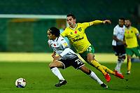7th November 2020; Carrow Road, Norwich, Norfolk, England, English Football League Championship Football, Norwich versus Swansea City; Kenny McLean of Norwich City challenges Yan Dhanda of Swansea City