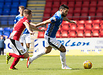 St Johnstone v East Fife…14.07.18…  McDiarmid Park    League Cup<br />Tony Watt is tracked by Ross Davidson<br />Picture by Graeme Hart. <br />Copyright Perthshire Picture Agency<br />Tel: 01738 623350  Mobile: 07990 594431