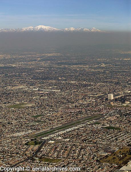 aerial photograph smog Los Angeles, California