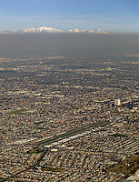 aerial photograph smog Los Angeles, California