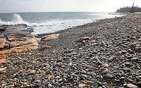 Incoming Tide & Cobblestones at Seawall #A102
