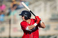 Mickey Moniak (22) of the Lakewood BlueClaws at bat against the Kannapolis Intimidators at Kannapolis Intimidators Stadium on April 9, 2017 in Kannapolis, North Carolina.  The BlueClaws defeated the Intimidators 7-1.  (Brian Westerholt/Four Seam Images)