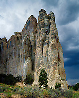 Storm clouds over Inscription Rock; El Morro National Monument, NM