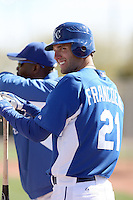 Jeff Francoeur #21 of the Kansas City Royals participates in spring training workouts at the Royals complex on February 21, 2011  in Surprise, Arizona. .Photo by:  Bill Mitchell/Four Seam Images.