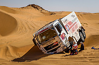4th January 2021; Dakar Rally stage 2;  543 Benbekhti Ahmed (dza), Seillet Bruno (fra), Fauvel Mickael (fra), Man, Sta Competition, Camion, Truck, ambiance during the 2nd stage of the Dakar 2021 between Bisha and Wadi Al Dawasir, in Saudi Arabia on January 4, 2021