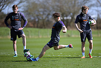 Pictured: Daniel James takes a penalty Friday 24 March 2017<br /> Re: Swansea City U23 training ahead of their International Cup game against Porto, Fairwood training ground, UK