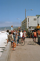San Diego: Bike and Foot Traffic. Ocean Front Walk, Mission Beach.  (Photo 1982)