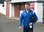 Arbroath v St Johnstone…15.08.21  Gayfield Park      Premier Sports Cup<br />Glenn Middlleton arrives ahead of today's match<br />Picture by Graeme Hart.<br />Copyright Perthshire Picture Agency<br />Tel: 01738 623350  Mobile: 07990 594431