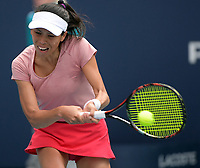 MIAMI GARDENS, FLORIDA - MARCH 23:  Hsieh Su-wei Day 6 of the Miami Open Presented by Itau at Hard Rock Stadium. Japan's world number one Naomi Osaka was sent spinning to a crushing loss when Taiwan's 27th seeded Hsieh Su-wei defeated her in three absorbing sets at the Miami Open on Saturday on March 23, 2019 in Miami Gardens, Florida<br /> <br /> People: Hsieh Su-wei