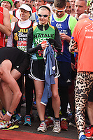 Natalie Dormer<br /> at the start of the 2016 London Marathon, Blackheath, Greenwich London<br /> <br /> <br /> ©Ash Knotek  D3108 24/04/2016