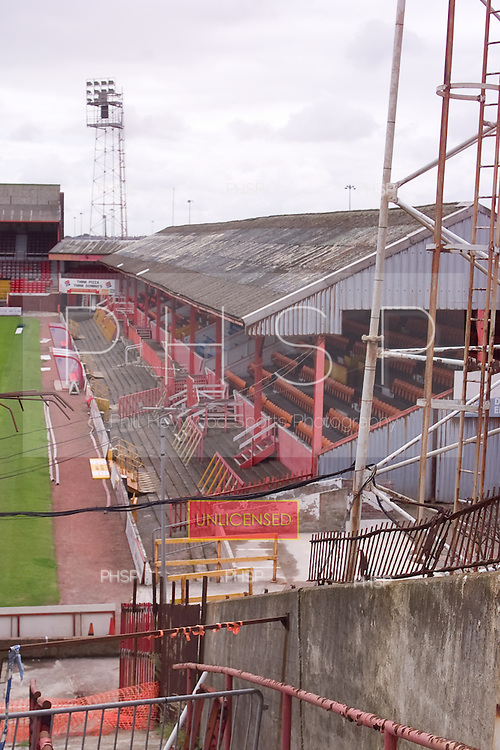 23/06/2000 Blackpool FC Bloomfield Road Ground..West stand view from North west corner of the Kop......© Phill Heywood.