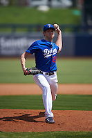 Tulsa Drillers pitcher Chris Reed (27) delivers a pitch during a game against the Midland RockHounds on June 3, 2015 at Oneok Field in Tulsa, Oklahoma.  Midland defeated Tulsa 5-3.  (Mike Janes/Four Seam Images)