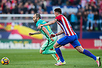 Andres Iniesta Lujan (l) of FC Barcelona fights for the ball with Saul Niguez Esclapez of Atletico de Madrid during their La Liga match between Atletico de Madrid and FC Barcelona at the Santiago Bernabeu Stadium on 26 February 2017 in Madrid, Spain. Photo by Diego Gonzalez Souto / Power Sport Images
