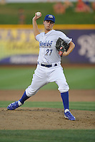 Omaha Storm Chasers hurler Jake Odorizzi #27 fires a pitch during the game against the Reno Aces at Werner Park on August 3, 2012 in Omaha, Nebraska.(Dennis Hubbard/Four Seam Images