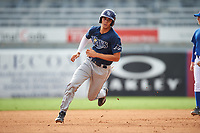Anthony Gonnella (19) of Riverview High School in Riverview, Florida playing for the Tampa Bay Rays scout team during the East Coast Pro Showcase on July 28, 2015 at George M. Steinbrenner Field in Tampa, Florida.  (Mike Janes/Four Seam Images)