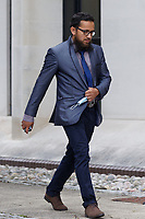 COPY BY TOM BEDFORD<br /> Pictured: Dr Jamil Rehman outside Swansea Crown Court, Wales, UK. <br /> Re:Dr Jamil Rehman, 35, who was jailed at Swansea Crown Court after buying sex pills and red roses in the belief he was about to spend the night in a hotel with a 15-year-old schoolgirl. Rehman, of Derby, was trapped by paedophile hunters and found guilty of two charges of attempted sexual grooming.
