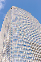 A view looking up of 30 Hudson Street / the Goldman Sachs Tower in Jersey City, the tallest building in New Jersey.