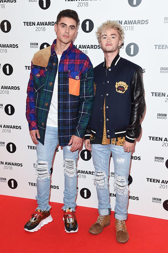 Jack and Jack<br /> arriving for the Radio 1 Teen Awards 2018 at Wembley Stadium, London<br /> <br /> ©Ash Knotek  D3454  21/10/2018