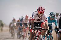 John Degenkolb (DEU/Trek-Segafredo) on pavé sector #3<br /> <br /> Stage 9: Arras Citadelle > Roubaix (154km)<br /> <br /> 105th Tour de France 2018<br /> ©kramon