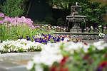 Garden and Fountain <br /> Tappan Hill Mansion<br /> Hudson Weddings