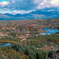 Scenic Landscape along South Klondike Highway 2 from Yukon Territory, Canada, through Northern British Columbia, Canada, to Skagway, Alaska, USA