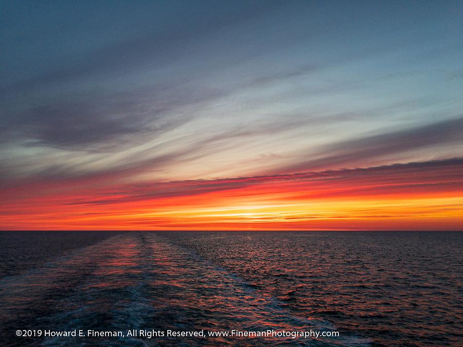 Alpenglow following Stavanger sunset