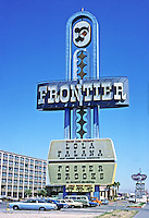 Las Vegas: Frontier Casino sign. Photo '79.