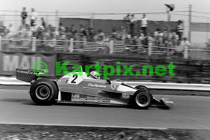Clay Regazzoni John Player British Grand Prix 1976 at Brands Hatch.
