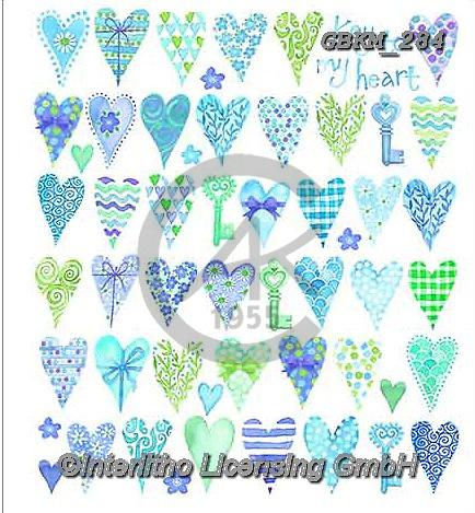 Kate, WEDDING, HOCHZEIT, BODA, valentine, Valentin, paintings+++++Feminine page 16 1,GBKM284,#W#,#V#, EVERYDAY,valentine,hearts