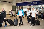 Stoke City Players arrive at the Hong Kong International Airport for the HKFC Citi Soccer Sevens on 18 May 2016 in Hong Kong, China. Photo by Panda Man / Power Sport Images