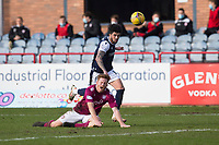 13th March 2021; Dens Park, Dundee, Scotland; Scottish Championship Football, Dundee FC versus Arbroath; Declan McDaid of Dundee goes past Jason Thomson of Arbroath